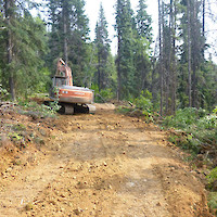 Gibson access trail construction